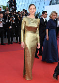 Actress Marion Cotillard attends the screening of 'From The Land Of The Moon ' at the annual 69th Cannes Film Festival at Palais des Festivals on May...