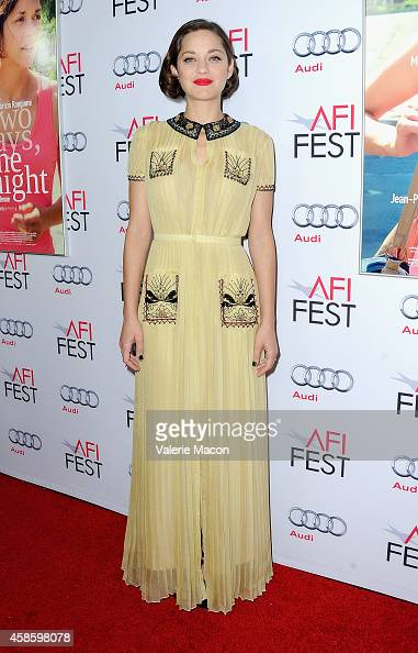 Actress Marion Cotillard attends the screening of 'Two Days One Night' during AFI FEST 2014 presented by Audi at the Egyptian Theatre on November 7...