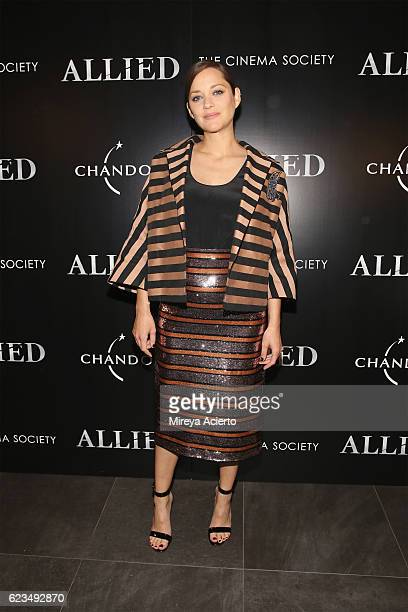 Actress Marion Cotillard attends the special screening of 'Allied' hosted by Paramount Pictures with The Cinema Society Chandon at iPic Fulton Market...