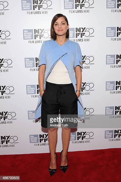 Actress Marion Cotillard attends the 'Time Out Of Mind' premiere during the 52nd New York Film Festival at Alice Tully Hall on October 5 2014 in New...