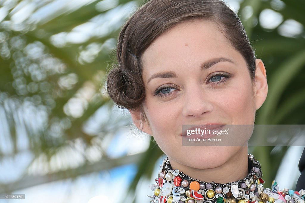Actress <a gi-track='captionPersonalityLinkClicked' href=/galleries/search?phrase=Marion+Cotillard&family=editorial&specificpeople=215303 ng-click='$event.stopPropagation()'>Marion Cotillard</a> attends the 'Two Days, One Night' photocall at the 67th Annual Cannes Film Festival on May 20, 2014 in Cannes, France.