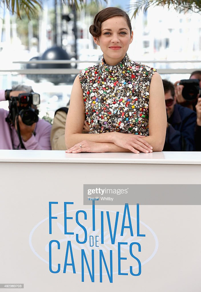 Actress <a gi-track='captionPersonalityLinkClicked' href=/galleries/search?phrase=Marion+Cotillard&family=editorial&specificpeople=215303 ng-click='$event.stopPropagation()'>Marion Cotillard</a> attends the 'Two Days, One Night' (Deux Jours, Une Nuit) photocall during the 67th Annual Cannes Film Festival on May 20, 2014 in Cannes, France.