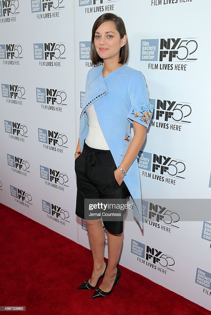 Actress Marion Cotillard attends the 'Two Days, One Night' premiere during the 52nd New York Film Festival at Alice Tully Hall on October 5, 2014 in New York City.