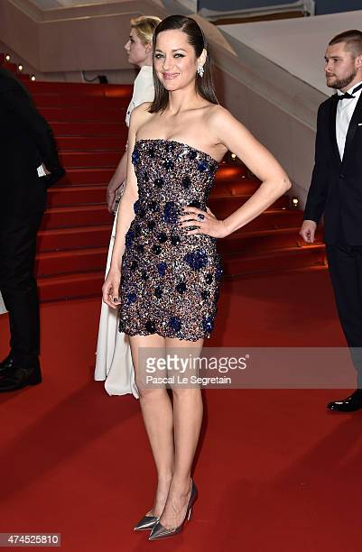 Actress Marion Cotillard departs the 'Macbeth' Premiere during the 68th annual Cannes Film Festival on May 23 2015 in Cannes France
