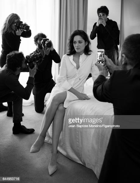 Actress Marion Cotillard is photographed for Madame Figaro on October 18 2016 in Paris France Dress shoes PUBLISHED IMAGE CREDIT MUST READ...