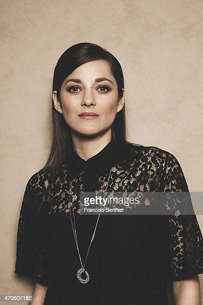Actress Marion Cotillard is photographed for Self Assignment on March 27 2015 in Paris France