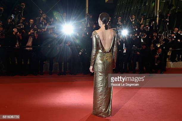 Actress Marion Cotillard leaves the 'From The Land Of The Moon ' premiere during the 69th annual Cannes Film Festival at the Palais des Festivals on...