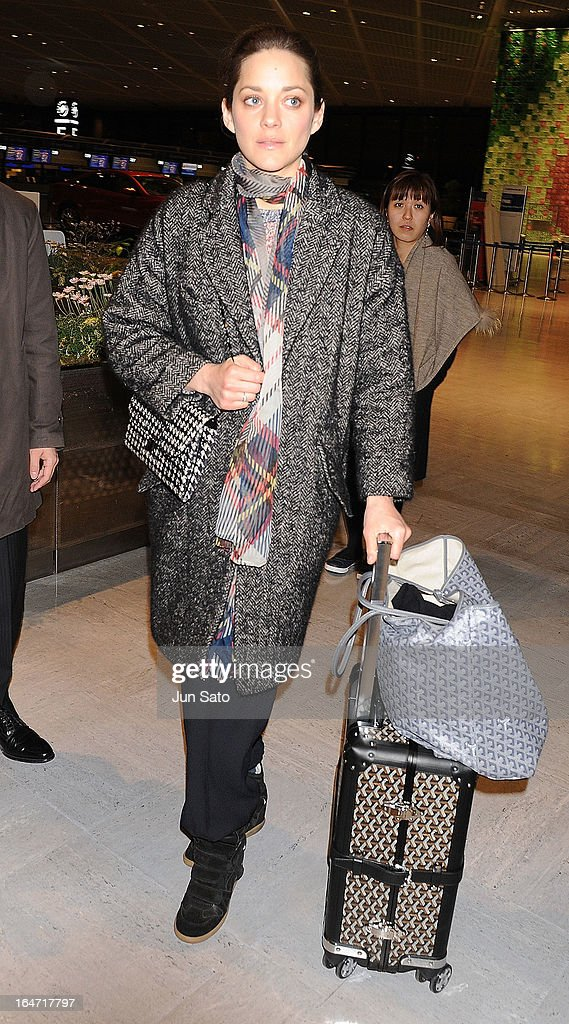 Actress Marion Cotillard seen at Narita International Airport on March 27, 2013 in Narita, Japan.