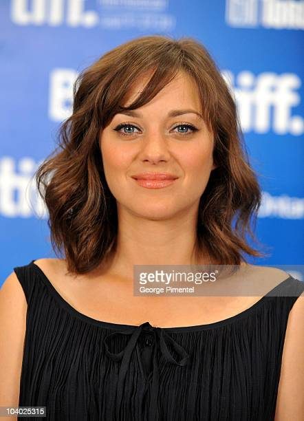 Actress Marion Cotillard speaks at 'Little White Lies' press conference during the 2010 Toronto International Film Festival at the Hyatt Regency on...