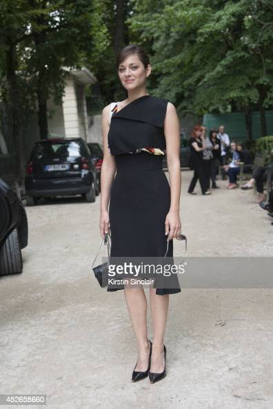 Actress Marion Cotillard wearing Dior day 2 of Paris Haute Couture Fashion Week Autumn/Winter 2014 on July 7 2014 in Paris France