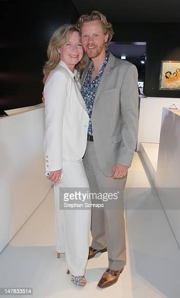 Actress Marion Kracht and husband Berthold Manns attends the Guido Maria Kretschmer presentation party at the Berlin Moscow Bar Unter den Linden 52...