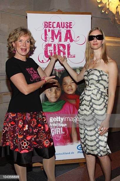 Actress Marion Kracht and singer Joana Zimmer attend the 'International Girls Day 2010' a Children's Fund event for girls in Third World countries on...