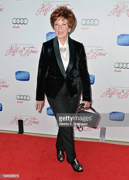 Actress Marion Ross attends the Academy of Television Arts Sciences' 22nd Annual Hall of Fame Induction Gala at The Beverly Hilton Hotel on March 11...
