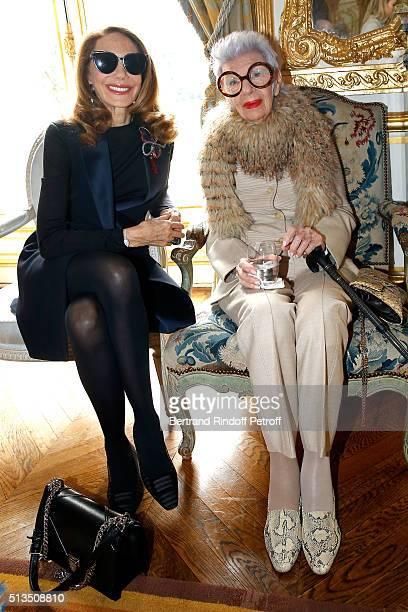 Actress Marisa Berenson and Fashion Icon Ms Iris Apfel attend the 'International Women's Day Luncheon in Support of Equality and Safety for All'...