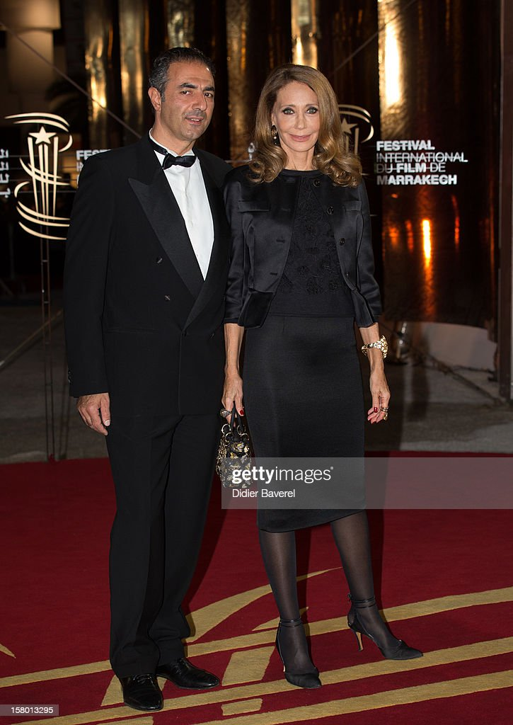 Actress Marisa Berenson and her husband attend the closing ceremony at 12th International Marrakech Film Festival on December 8, 2012 in Marrakech, Morocco.