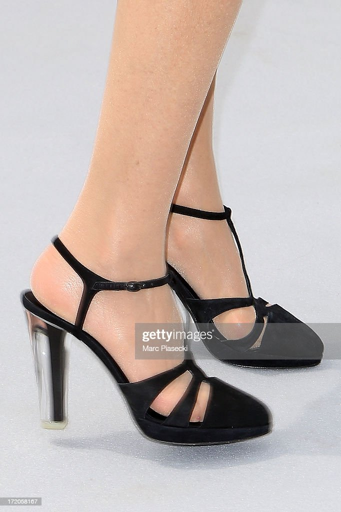 Actress Marisa Berenson (shoe detail) arrives to attend the Christian Dior show as part of Paris Fashion Week Haute Couture Fall/Winter 2013-2014 at on July 1, 2013 in Paris, France.