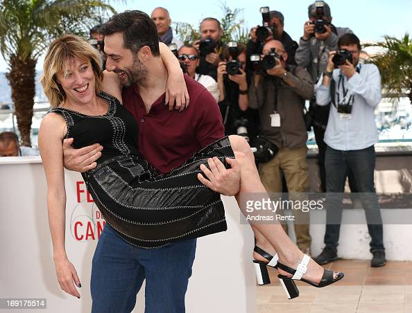 Actress Marisa Borini director Valeria Bruni Tedeschi and actor Filippo Timi and attend the 'Un Chateau En Italie' Photocall during The 66th Annual...