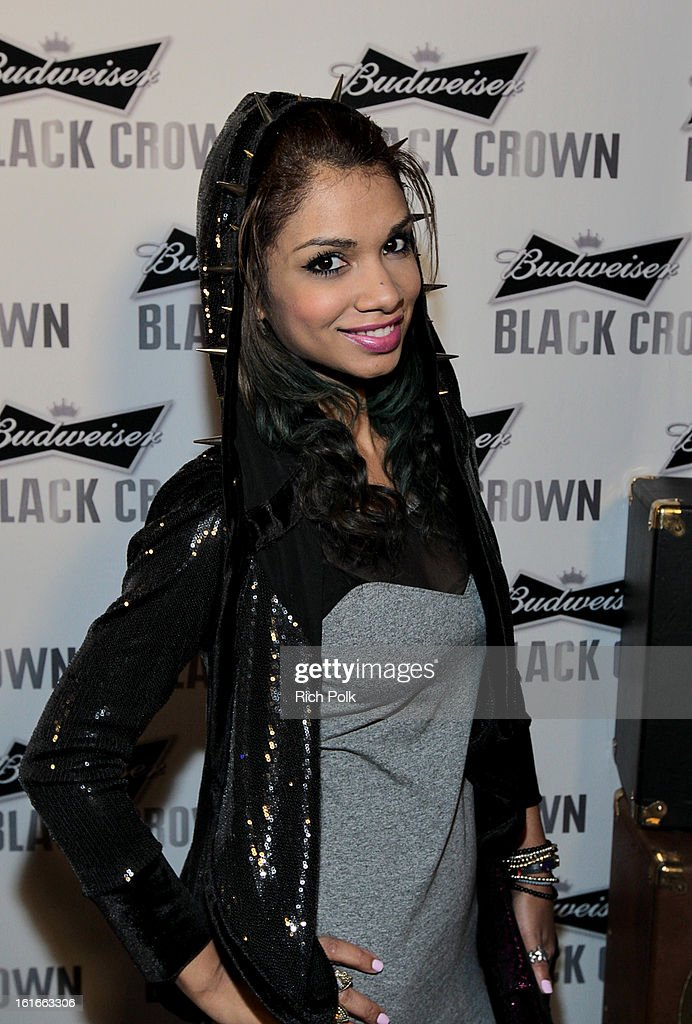 Actress Marisa Lauren attends the Budweiser Black Crown Launch Party at gibson/baldwin showroom on February 13, 2013 in Los Angeles, California.