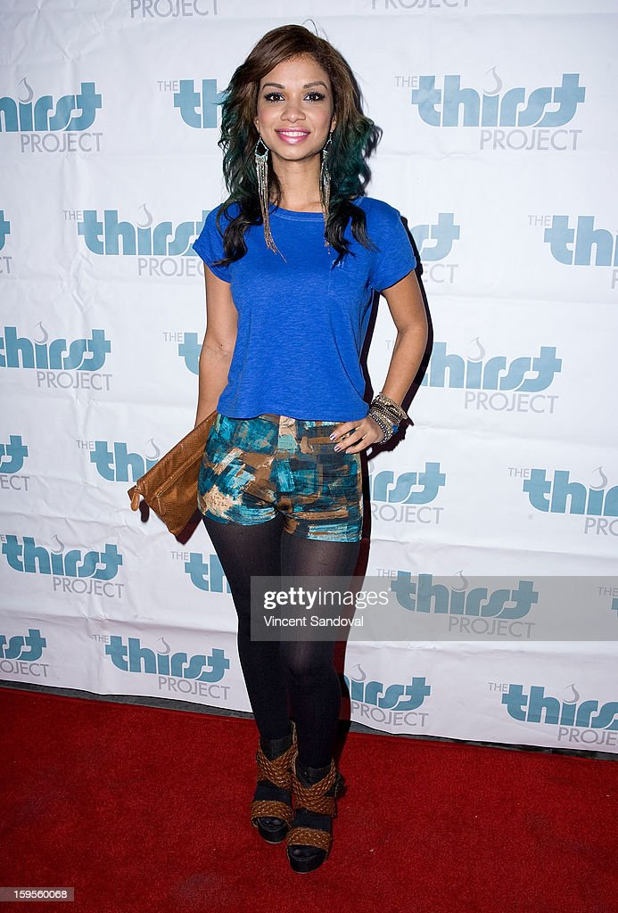 Actress Marisa Lauren attends the Thirst Project charity cocktail party at Lexington Social House on January 15, 2013 in Hollywood, California.
