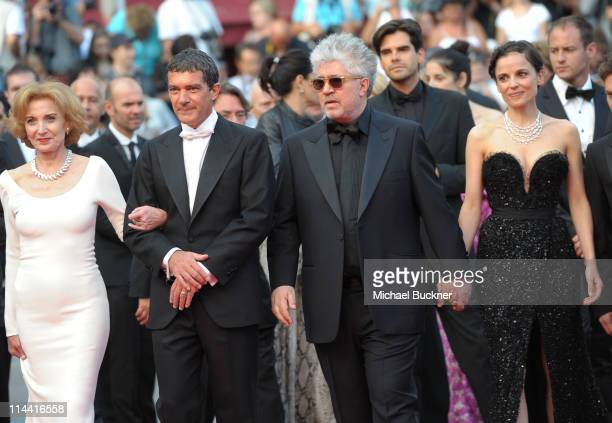 Actress Marisa Paredes actor Antonio Banderas director Pedro Almodovar and actress Elena Anaya attends 'The Skin I Live In' Premiere during the 64th...