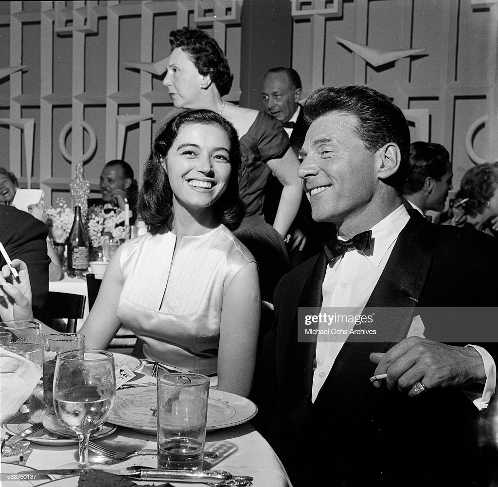 Actress Marisa Pavan with husband actor Jean-Pierre Aumont attend the Academy Awards party in Los Angeles,CA.