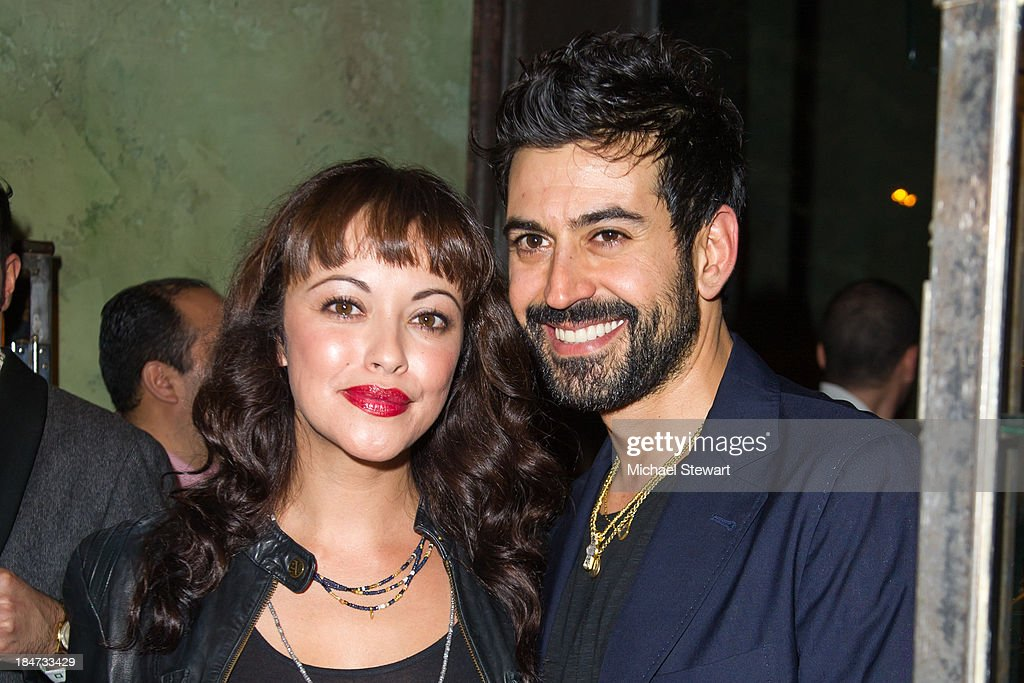Actress <a gi-track='captionPersonalityLinkClicked' href=/galleries/search?phrase=Marisa+Ramirez&family=editorial&specificpeople=225192 ng-click='$event.stopPropagation()'>Marisa Ramirez</a> (L) and designer Eli Halili attend the Eli Halili Soho Boutique Grand Opening with Vogue Gioiello on October 15, 2013 in New York City.