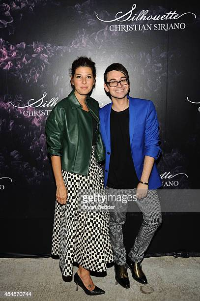 Actress Marisa Tomei and designer Christian Siriano attend Christian Siriano's celebration of his new fragrance with a Stoli Vodka cocktail at the...