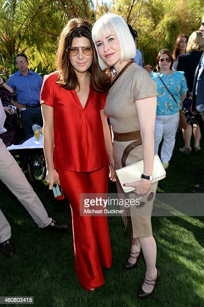 Actress Marisa Tomei and writer Gren Wells attend Variety's Creative Impact Awards and 10 Directors to Watch brunch presented by MercedesBenz at The...