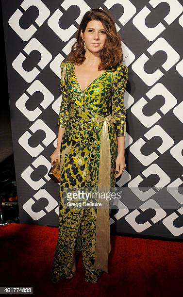 Actress Marisa Tomei arrives at Diane Von Furstenberg's 'Journey Of A Dress' premiere opening party at Wilshire May Company Building on January 10...