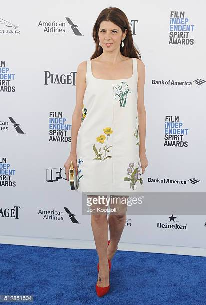 Actress Marisa Tomei arrives at the 2016 Film Independent Spirit Awards on February 27 2016 in Los Angeles California