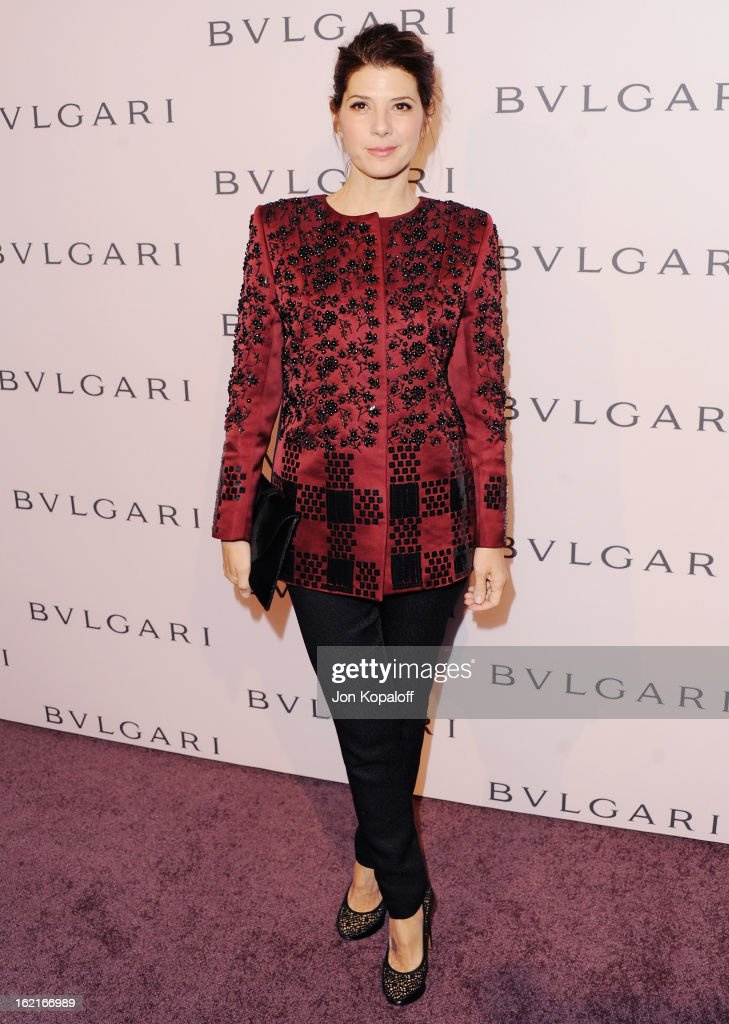 Actress Marisa Tomei arrives at the Elizabeth Taylor Bulgari Event At The New Bulgari Beverly Hills Boutique on February 19, 2013 in Beverly Hills, California.