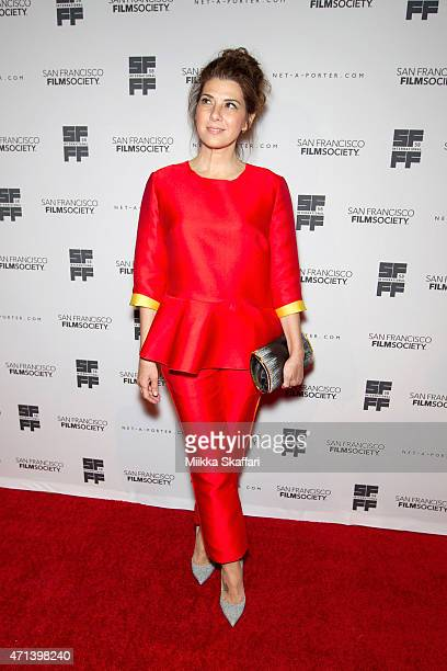 Actress Marisa Tomei arrives at the Film Society Awards night at 58th San Francisco International Film Festival at The Armory on April 27 2015 in San...