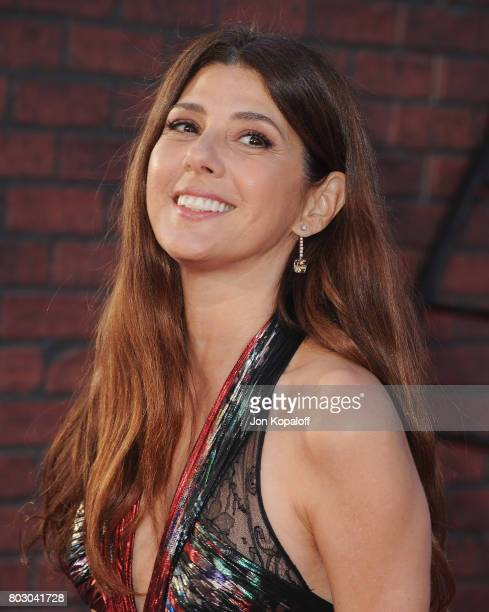 Actress Marisa Tomei arrives at the Los Angeles Premiere 'SpiderMan Homecoming' at TCL Chinese Theatre on June 28 2017 in Hollywood California