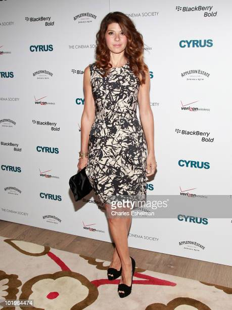 Actress Marisa Tomei attends a special screening of 'Cyrus' hosted by The Cinema Society and Verizon BlackBerry Bold at the Crosby Street Hotel on...