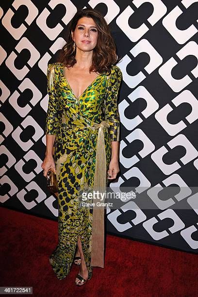 Actress Marisa Tomei attends Diane Von Furstenberg's 'Journey Of A Dress' Premiere Opening Party at Wilshire May Company Building on January 10 2014...