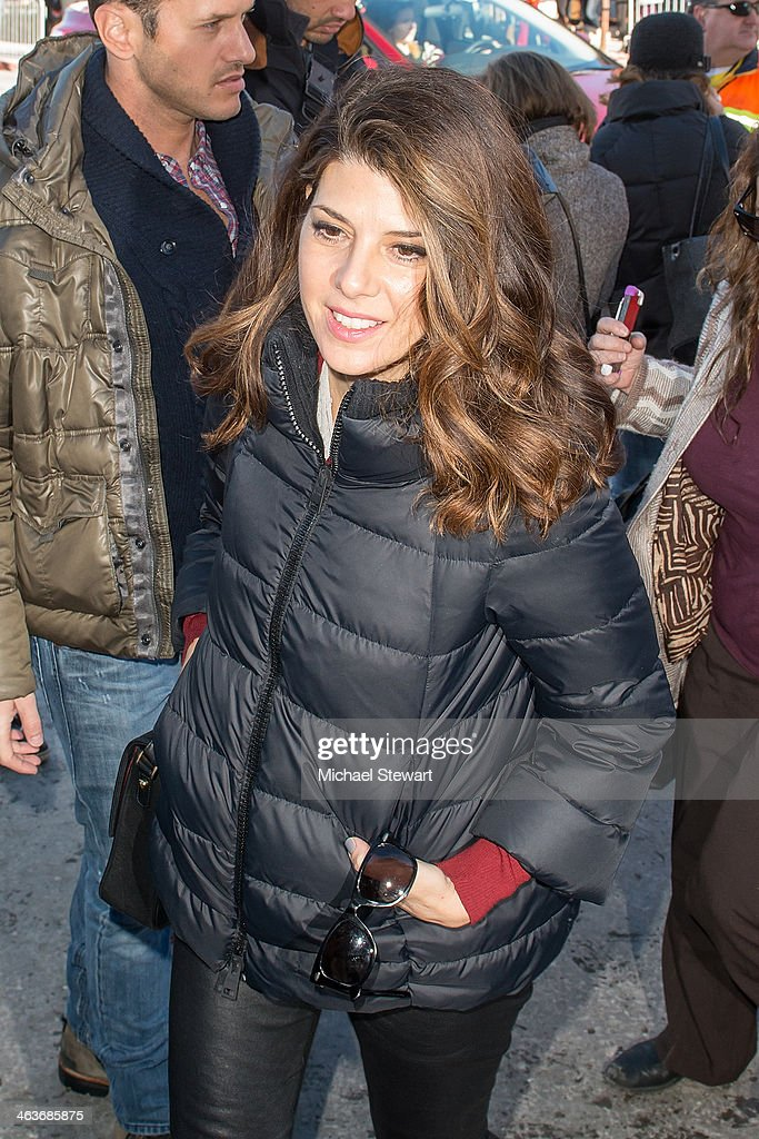 Actress <a gi-track='captionPersonalityLinkClicked' href=/galleries/search?phrase=Marisa+Tomei&family=editorial&specificpeople=201516 ng-click='$event.stopPropagation()'>Marisa Tomei</a> attends Oakley Learn To Ride With AOL at Sundance on January 18, 2014 in Park City, Utah.
