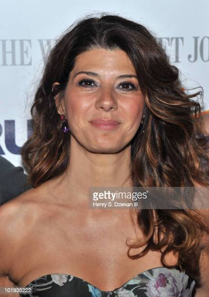 Actress Marisa Tomei attends the 2010 BAMcinemaFEST Opening Night premiere of 'Cyrus' at the BAM Peter Jay Sharp Building on June 9 2010 in the...