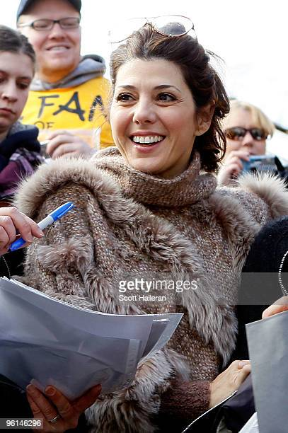 Actress Marisa Tomei attends the 2010 Sundance Film Festival on January 24 2010 in Park City Utah