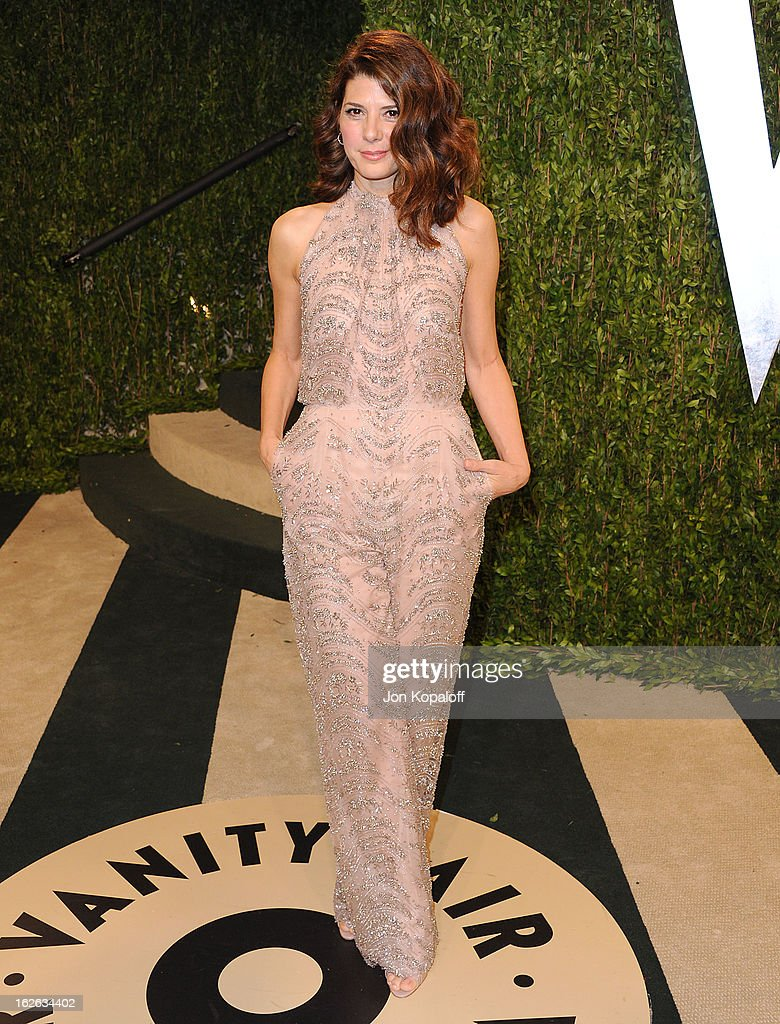 Actress Marisa Tomei attends the 2013 Vanity Fair Oscar party at Sunset Tower on February 24, 2013 in West Hollywood, California.