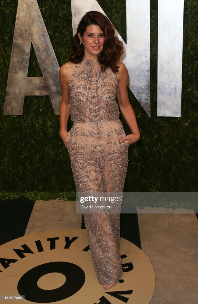 Actress Marisa Tomei attends the 2013 Vanity Fair Oscar Party at the Sunset Tower Hotel on February 24, 2013 in West Hollywood, California.