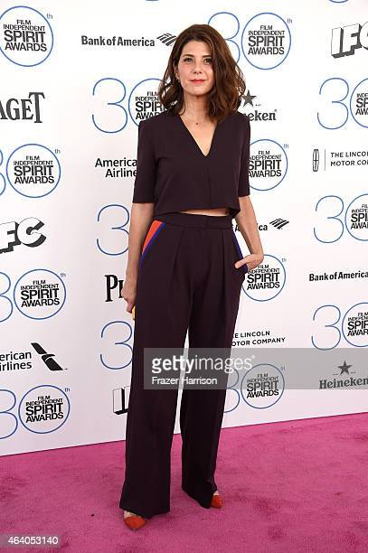 Actress Marisa Tomei attends the 2015 Film Independent Spirit Awards at Santa Monica Beach on February 21 2015 in Santa Monica California