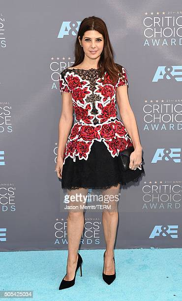 Actress Marisa Tomei attends the 21st Annual Critics' Choice Awards at Barker Hangar on January 17 2016 in Santa Monica California