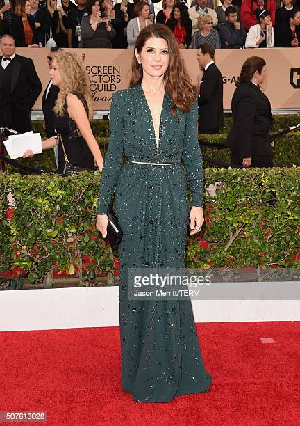 Actress Marisa Tomei attends The 22nd Annual Screen Actors Guild Awards at The Shrine Auditorium on January 30 2016 in Los Angeles California...