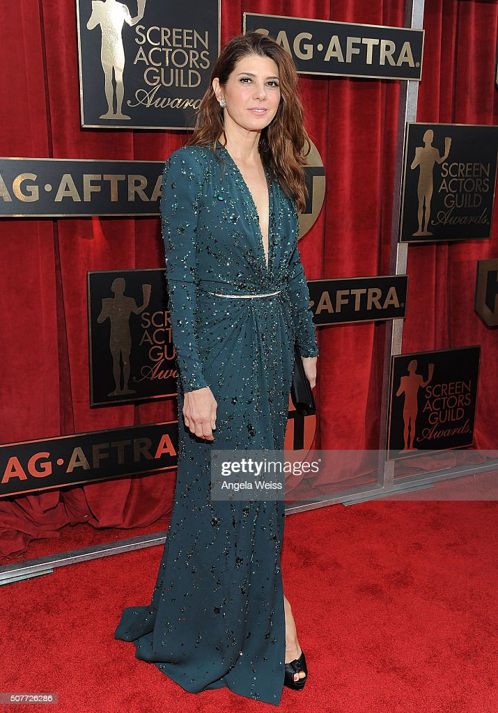 Actress Marisa Tomei attends the 22nd Annual Screen Actors Guild Awards at The Shrine Auditorium on January 30, 2016 in Los Angeles, California.