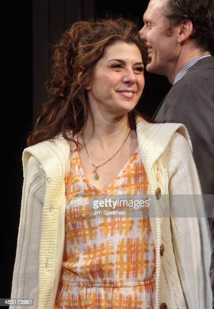 Actress Marisa Tomei attends the Broadway opening night of 'The Realistic Joneses' at The Lyceum Theater on April 6 2014 in New York City