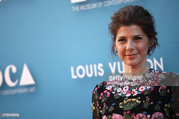 Actress Marisa Tomei attends the Museum of Contemporary Art Los Angeles annual gala presented by Louis Vuitton held at The Geffen Contemporary at...