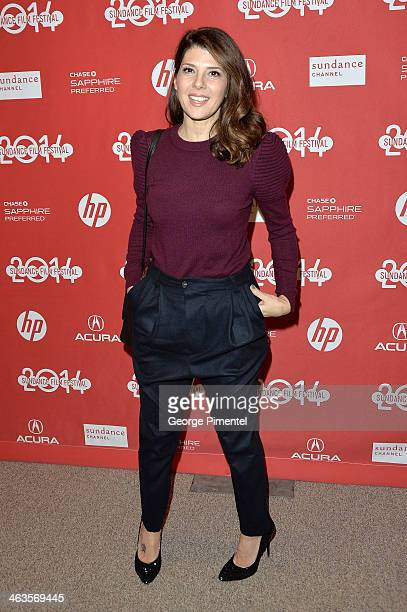 Actress Marisa Tomei attends the premiere of 'Love Is Strange' at the Eccles Center Theatre during the 2014 Sundance Film Festival on January 18 2014...