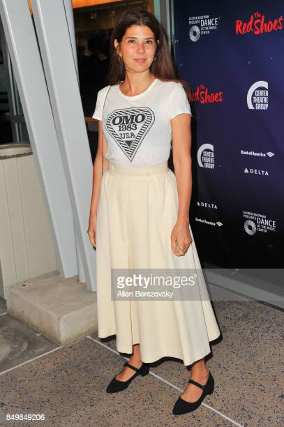 Actress Marisa Tomei attends 'The Red Shoes' opening night performance at Ahmanson Theatre on September 19 2017 in Los Angeles California