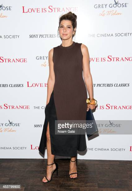 Actress Marisa Tomei attends the Sony Pictures Classics With The Cinema Society Grey Goose screening of 'Love Is Strange' at Tribeca Grand Hotel on...