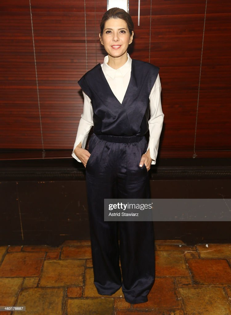 Actress <a gi-track='captionPersonalityLinkClicked' href=/galleries/search?phrase=Marisa+Tomei&family=editorial&specificpeople=201516 ng-click='$event.stopPropagation()'>Marisa Tomei</a> attends the 'The Realistic Joneses' opening night after party at The Redeye Grill on April 6, 2014 in New York City.